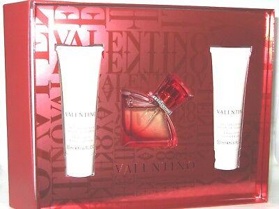 V Valentino Absolu Perfume 1.0 oz EDP + 1.6 Body Lotion + Shower Gel Gift Set for sale  Piscataway