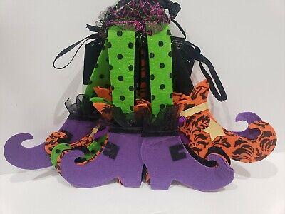 "Halloween Witch Boots Banner Garland Decor Decoration 48"""