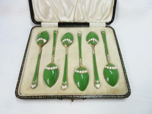 Vintage Enamel Demitasse Spoons Turner & Simpson Set of 6
