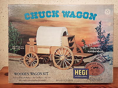 HEGI Modellbau Holzbausatz Chuck Wagon Wooden Wagon Kit Nr5015
