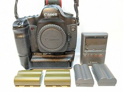 Canon EOS 5D Mark 1 Digital SLR Camera Body + BONUS Canon Battery Grip + Batt's