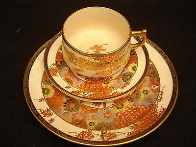 MARKED Tashiro JAPANESE TAISHO SATSUMA TEA COFFEE SET  POT / C & S / CAKE PLATE