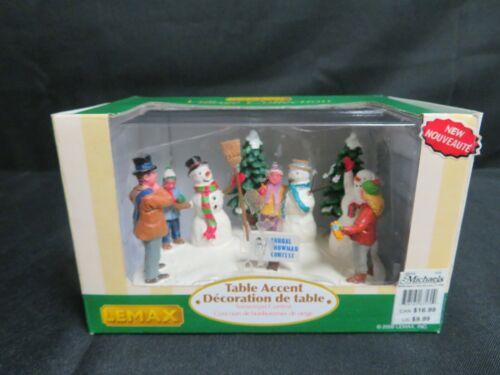 Lemax Village Collection Snowman Contest Table Accent HE508