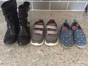 Toddler Girls size 9 shoes - 3 pairs