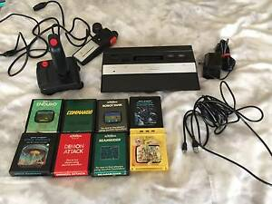 Atari 2600 Console + 2 Controllers + 8 games Adelaide CBD Adelaide City Preview