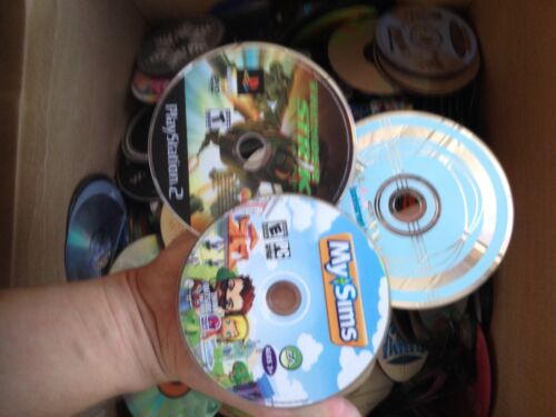 100 DVD, CD, GAME Lot Wholesale! Great For Resale! Scratched To Good Condition