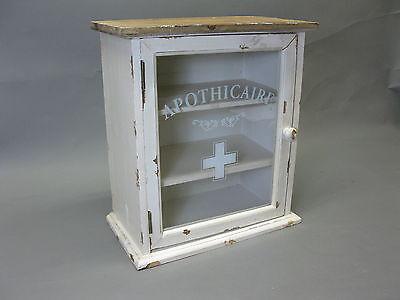 Vintage Farmacia domestica Pensile 36 cm x 32 18 Gabinetto del veleno