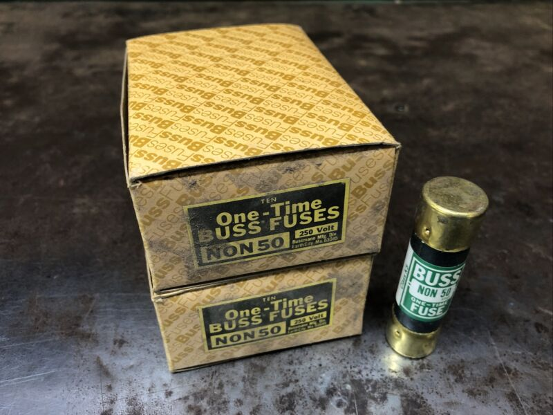 20-PK New EAGLE Buss 50 Amp Fuses 250 Volt One-Time NON-50 New