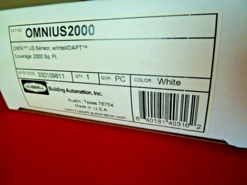 (1) BRAND NEW Hubbell OMNIUS2000 OMNI US Motion Sensor w/IntelliDAPT