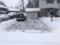 Offering snow shovelling for great price.