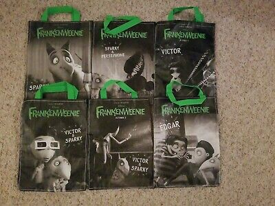 Subway Halloween Bags (Rare Frankenweenie Halloween Subway Tote Lot Complete Set Trick or Treat)