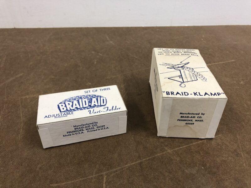 Rug Braiding Tool Kit BRAID Clamp BRAID-AID VARI FOLDER Pincher Hold Braidaid