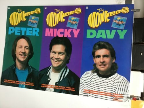 """The Monkees """"Peter, Micky, Davy"""" Original Promo Poster"""