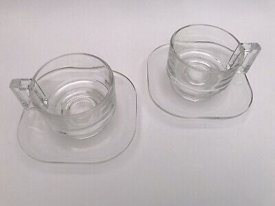 Mid Century Modern 60's, 2 Arno Coffee Cups & Saucers, Designed By Joe Colombo
