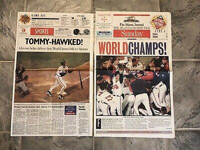 Atlanta Braves World Series Champions (1995 Atlanta Braves World Series Champions Newspaper)