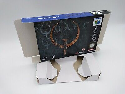 Quake 64 - box and insert - N64 - Pal or NTSC -Thick cardboard. Top Quality !!