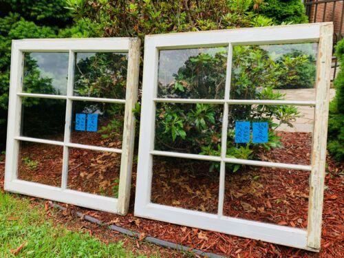 2 - 28 x 25 Vintage Window sash  old 6 pane From 1950