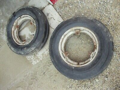 Farmall 400 450 Super M Mta Ih Front Buckle Rim Rims 6.00 X 16 Hi Rib Tires