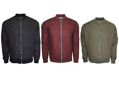 Men's Lightweight Bomber Harrington Jacket Slim fit Black, Olive -