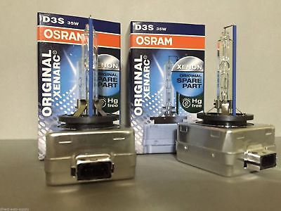 2PCS NEW OEM OSRAM XENARC D3S 66340 6000K HID XENON LIGHT BULBS SET