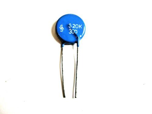 MOV, Metal Oxide Varistor 300 Volt 20 Amp S20K300 (New Old Stock)(QTY 5 ea)K1