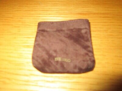 Vintage Empty Seiko Advertising Fabric Storage Pouch for Pocket Watch