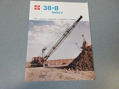 Rare Bucyrus-erie 38-b Crane Excavator Sales Brochure 1980