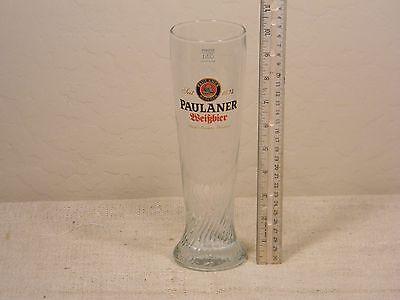 Paulaner Weissbeir Glass .5l   Twisted Glass
