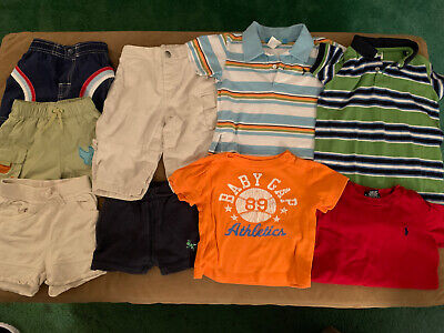 Lot of 9 Baby Boy Size 6-12 Month Assorted Summer Clothing