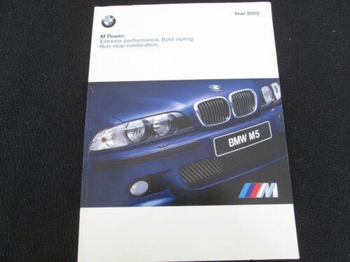 2000 BMW M Cars Brochure M5 E39 Z3 M Coupe & Roadster Prestige US Sales Catalog