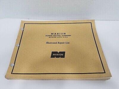 Marion Power Shovel Company Marion Ohio Usa Illustrated Repair List Manual