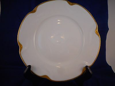 Salad Plate, Theodore Haviland Limoges, Schleiger 805, Geisha Blank, Gold Daubs