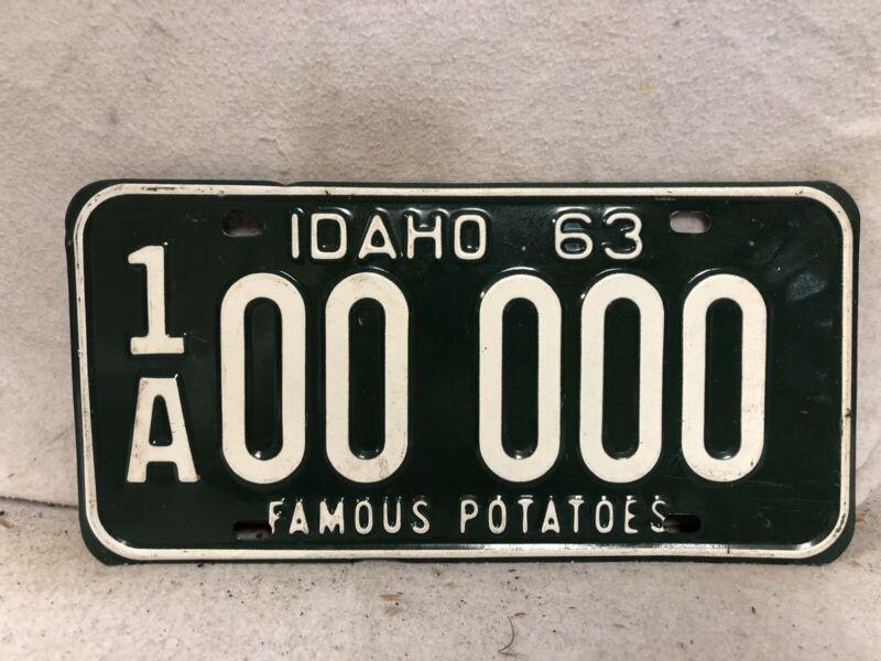 Vintage 1963 Idaho Sample License Plate