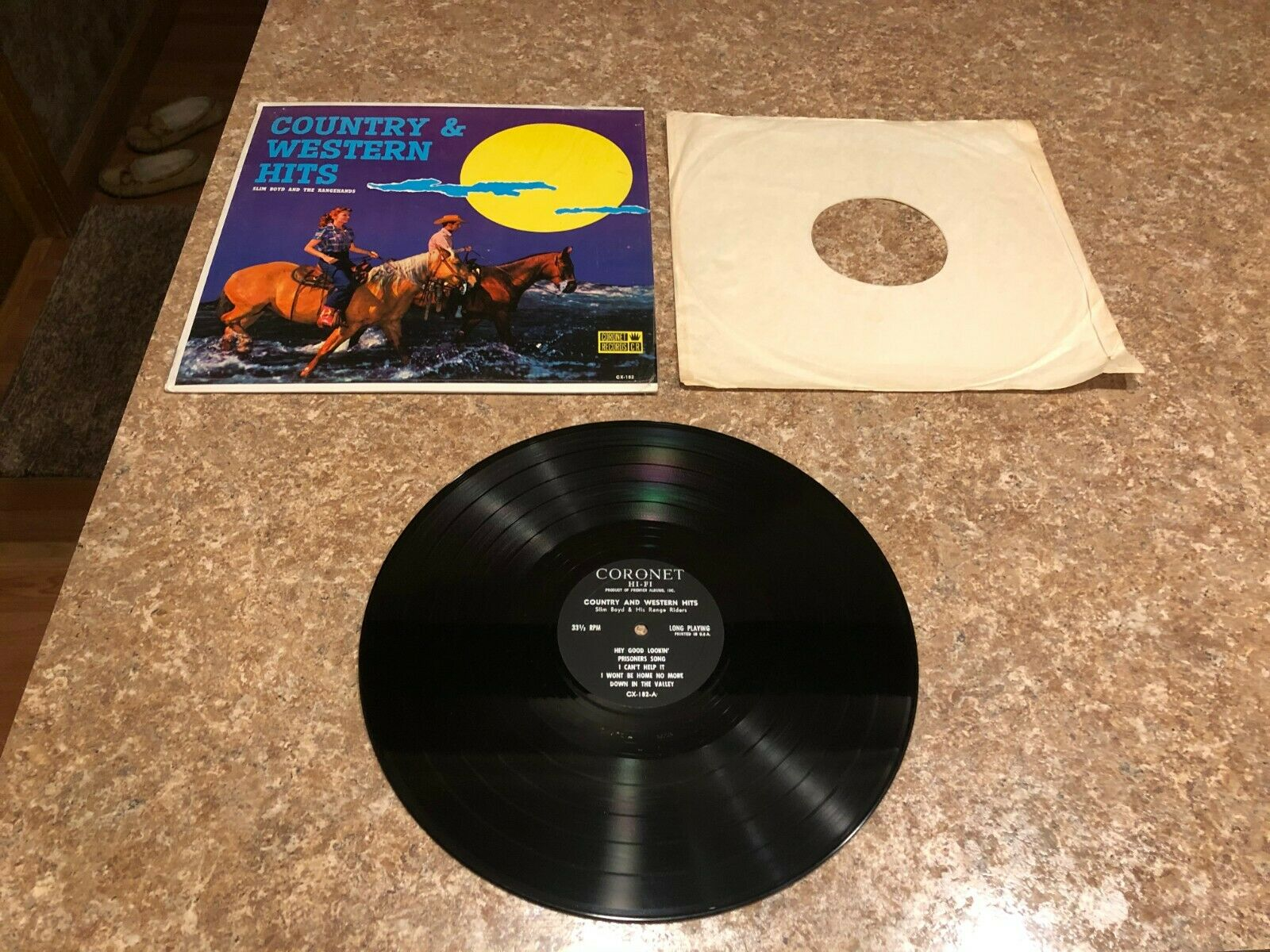 Slim Boyd & Rangehands - Country & Western Hits LP Vinyl Record