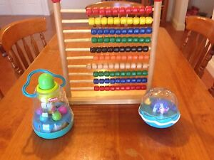 Wooden bead frame and baby toys Tarneit Wyndham Area Preview