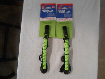 2 ROK Straps All Purpose Flat Tie Down Luggage Strap with hooks 16