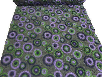 lk Walkloden Relief Retro Kreise grau grün lila flieder (Lila Muster)