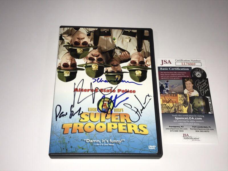 Supertroopers Signed DVD 5 Cast Members Certified By JSA Broken Lizard Comedy