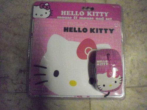 New ! Hello Kitty Mouse & Mouse Pad Set Nice Christmas Gift