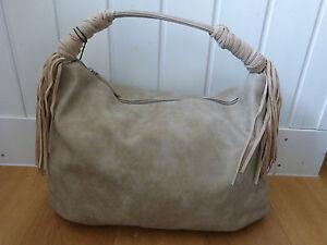 ✿Fringe Attack✿ Fritzi aus Preußen Shopper Hobo Bag Fransen Kami Vintage Sand