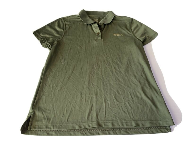 Boy Scouts of America BSA Ladies Medium Green 100% Polyester Polo
