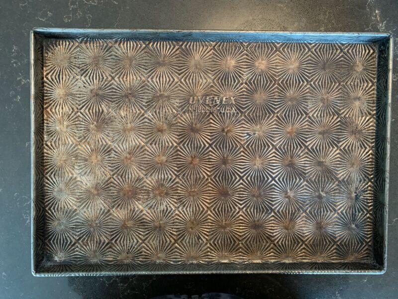 """RARE Vintage Ovenex Cookie Sheet- Starburst Pattern N10DL-16""""-great condition"""