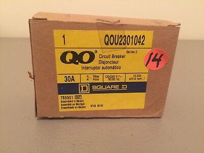 New In Box Square D 2 Pole 30 Amp Circuit Breaker Qou2301042 Ser.3