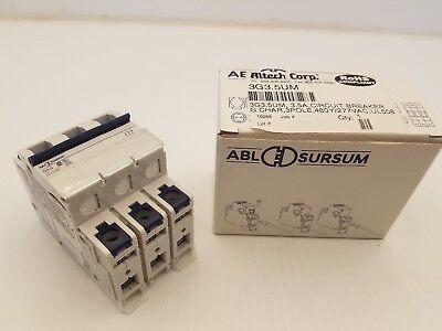 Altech Crop 3g3.5um 3.5a Circuit Breaker G Charg 3p 480y277vac Ul508nib