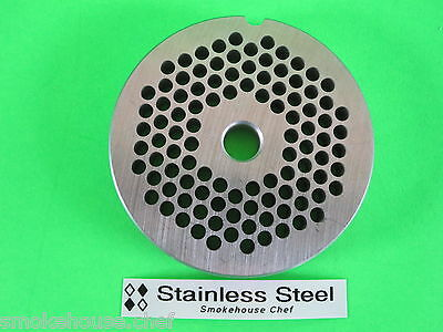 22 X 316 Meat Grinder Plate Stainless Steel For Adcraft Weston Lem Hobart