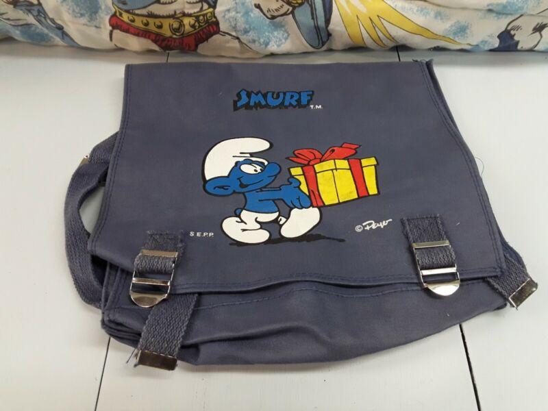 Vintage Smurf Tote Bag Book Peyo Sepp