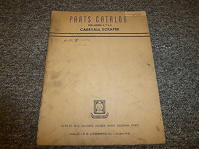 Letourneau Models E F K Carryall Scraper Parts Catalog Manual