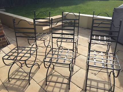 Wrought Iron Garden Furniture Chairs (6) Part 96