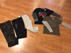 Brand New Boys pants and shirts with tags, Size 8, $20