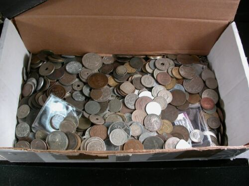10 Pounds Mixed Foreign World Coins including some from the 1800